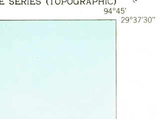 Reduced fragment of topographic map en--usgs--024k--041784--(1943)--N029-37-30_W094-52-30--N029-30-00_W094-45-00