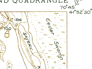 Reduced fragment of topographic map en--usgs--024k--041882--(1938)--N041-52-30_W070-52-30--N041-45-00_W070-45-00; towns and cities West Wareham