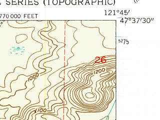 Reduced fragment of topographic map en--usgs--024k--041891--(1953)--N047-37-30_W121-52-30--N047-30-00_W121-45-00; towns and cities Snoqualmie