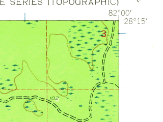 Reduced fragment of topographic map en--usgs--024k--041968--(1944)--N028-15-00_W082-07-30--N028-07-30_W082-00-00