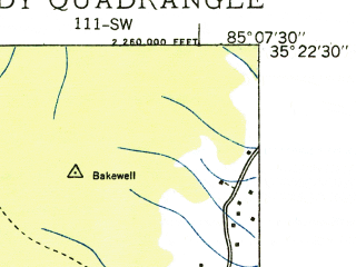 Reduced fragment of topographic map en--usgs--024k--041988--(1935)--N035-22-30_W085-15-00--N035-15-00_W085-07-30; towns and cities Soddy-daisy