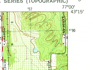 Reduced fragment of topographic map en--usgs--024k--041990--(1952)--N043-15-00_W077-07-30--N043-07-30_W077-00-00; towns and cities Sodus