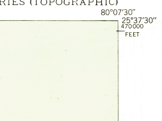 Reduced fragment of topographic map en--usgs--024k--042013--(1948)--N025-37-30_W080-15-00--N025-30-00_W080-07-30