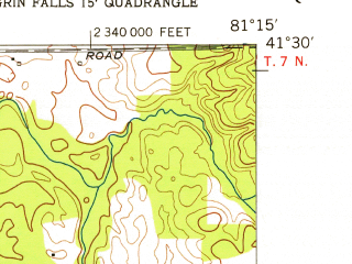 Reduced fragment of topographic map en--usgs--024k--042288--(1953)--N041-30-00_W081-22-30--N041-22-30_W081-15-00; towns and cities Bainbridge, South Russell