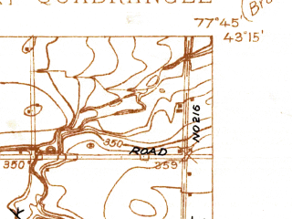 Reduced fragment of topographic map en--usgs--024k--042481--(1932)--N043-15-00_W077-52-30--N043-07-30_W077-45-00; towns and cities Spencerport