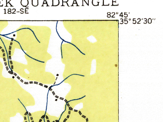 Reduced fragment of topographic map en--usgs--024k--042601--(1935)--N035-52-30_W082-52-30--N035-45-00_W082-45-00