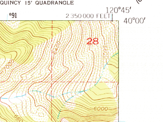 Reduced fragment of topographic map en--usgs--024k--042614--(1950)--N040-00-00_W120-52-30--N039-52-30_W120-45-00