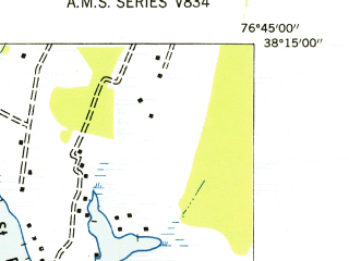 Reduced fragment of topographic map en--usgs--024k--042813--(1952)--N038-30-00_W077-30-00--N038-22-30_W077-22-30; towns and cities Aquia Harbour