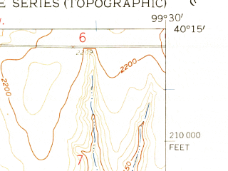 Reduced fragment of topographic map en--usgs--024k--042840--(1958)--N040-15-00_W099-37-30--N040-07-30_W099-30-00; towns and cities Stamford