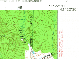 Reduced fragment of topographic map en--usgs--024k--042988--(1959)--N042-22-30_W073-30-00--N042-15-00_W073-22-30