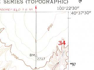 Reduced fragment of topographic map en--usgs--024k--043280--(1956)--N040-37-30_W100-30-00--N040-30-00_W100-22-30; towns and cities Stockville