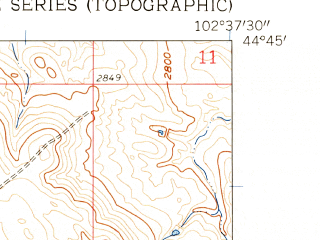 Reduced fragment of topographic map en--usgs--024k--043325--(1959)--N044-45-00_W102-45-00--N044-37-30_W102-37-30