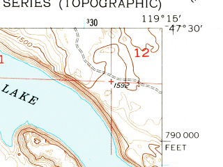 Reduced fragment of topographic map en--usgs--024k--043426--(1956)--N047-30-00_W119-22-30--N047-22-30_W119-15-00