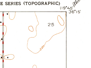 Reduced fragment of topographic map en--usgs--024k--043428--(1950)--N036-15-00_W119-52-30--N036-07-30_W119-45-00