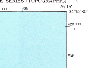 Reduced fragment of topographic map en--usgs--024k--043575--(1949)--N034-52-30_W076-22-30--N034-45-00_W076-15-00