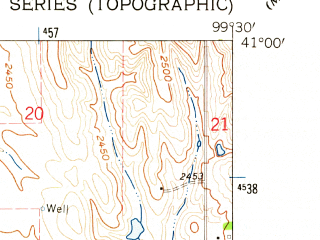 Reduced fragment of topographic map en--usgs--024k--043770--(1962)--N041-00-00_W099-37-30--N040-52-30_W099-30-00; towns and cities Sumner