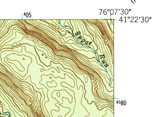 Reduced fragment of topographic map en--usgs--024k--044017--(1946)--N041-22-30_W076-15-00--N041-15-00_W076-07-30
