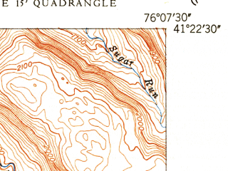 Reduced fragment of topographic map en--usgs--024k--044017--(1949)--N041-22-30_W076-15-00--N041-15-00_W076-07-30