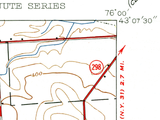 Reduced fragment of topographic map en--usgs--024k--044106--(1938)--N043-07-30_W076-07-30--N043-00-00_W076-00-00; towns and cities De Witt, East Syracuse, Lyndon, Minoa
