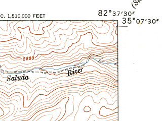 Reduced fragment of topographic map en--usgs--024k--044153--(1947)--N035-07-30_W082-45-00--N035-00-00_W082-37-30