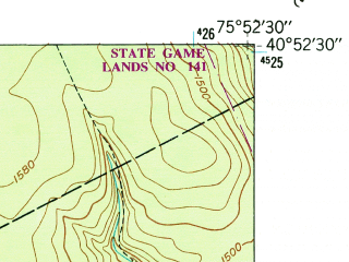 Reduced fragment of topographic map en--usgs--024k--044247--(1947)--N040-52-30_W076-00-00--N040-45-00_W075-52-30; towns and cities Tamaqua, Coaldale, Hometown, Lansford