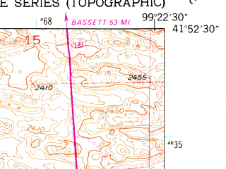 Reduced fragment of topographic map en--usgs--024k--044364--(1952)--N041-52-30_W099-30-00--N041-45-00_W099-22-30; towns and cities Taylor