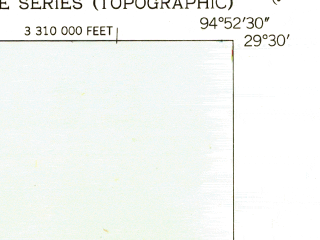 Reduced fragment of topographic map en--usgs--024k--044640--(1943)--N029-30-00_W095-00-00--N029-22-30_W094-52-30; towns and cities Texas City, San Leon