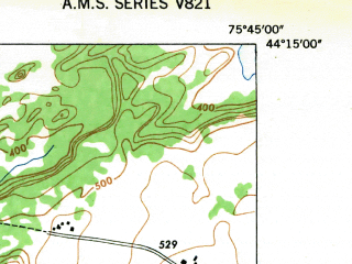 Reduced fragment of topographic map en--usgs--024k--044831--(1948)--N044-15-00_W075-52-30--N044-07-30_W075-45-00; towns and cities Theresa