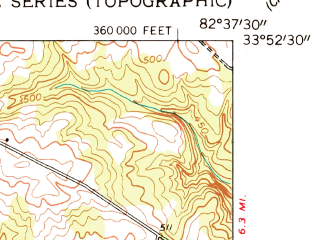 Reduced fragment of topographic map en--usgs--024k--045107--(1955)--N033-52-30_W082-45-00--N033-45-00_W082-37-30; towns and cities Tignall
