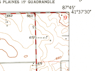 Reduced fragment of topographic map en--usgs--024k--045204--(1953)--N041-37-30_W087-52-30--N041-30-00_W087-45-00; towns and cities Orland Park, Tinley Park, Oak Forest, Westhaven, Frankfort Square