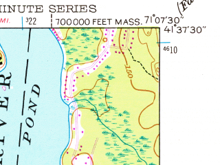 Reduced fragment of topographic map en--usgs--024k--045260--(1949)--N041-37-30_W071-15-00--N041-30-00_W071-07-30