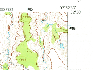 Reduced fragment of topographic map en--usgs--024k--045321--(1960)--N032-30-00_W098-00-00--N032-22-30_W097-52-30; towns and cities Tolar