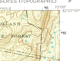Reduced fragment of topographic map en--usgs--024k--045335--(1958)--N042-07-30_W073-07-30--N042-00-00_W073-00-00 in area of Colbrook Reservoir