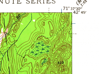 Reduced fragment of topographic map en--usgs--024k--045504--(1950)--N042-45-00_W071-45-00--N042-37-30_W071-37-30; towns and cities Townsend