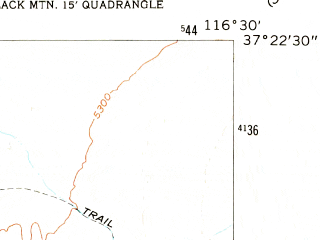 Reduced fragment of topographic map en--usgs--024k--045554--(1962)--N037-22-30_W116-37-30--N037-15-00_W116-30-00