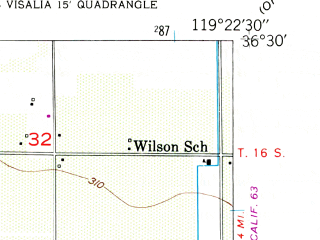 Reduced fragment of topographic map en--usgs--024k--045576--(1949)--N036-30-00_W119-30-00--N036-22-30_W119-22-30; towns and cities London
