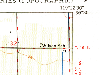 Reduced fragment of topographic map en--usgs--024k--045576--(1950)--N036-30-00_W119-30-00--N036-22-30_W119-22-30; towns and cities London