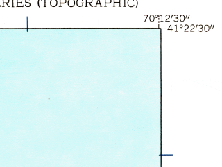 Reduced fragment of topographic map en--usgs--024k--045844--(1951)--N041-22-30_W070-19-60--N041-15-00_W070-12-30