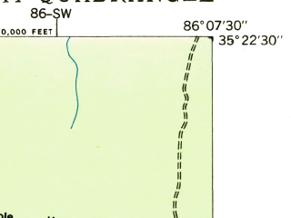 Reduced fragment of topographic map en--usgs--024k--045898--(1936)--N035-22-30_W086-15-00--N035-15-00_W086-07-30; towns and cities Tullahoma, Estill Springs