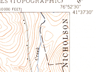 Reduced fragment of topographic map en--usgs--024k--045928--(1948)--N041-37-30_W076-00-00--N041-30-00_W075-52-30; towns and cities Tunkhannock