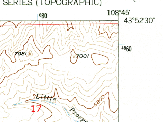 Reduced fragment of topographic map en--usgs--024k--046078--(1956)--N043-52-30_W108-52-30--N043-45-00_W108-45-00