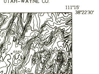 Reduced fragment of topographic map en--usgs--024k--046142--(1952)--N038-22-30_W111-22-30--N038-15-00_W111-15-00
