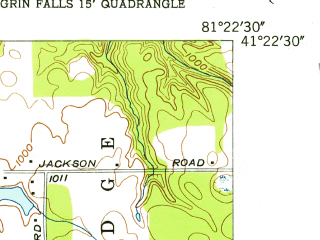 Reduced fragment of topographic map en--usgs--024k--046154--(1953)--N041-22-30_W081-30-00--N041-15-00_W081-22-30; towns and cities Macedonia, Twinsburg, Glenwillow, Reminderville