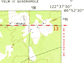 Reduced fragment of topographic map en--usgs--024k--046497--(1959)--N046-52-30_W122-45-00--N046-45-00_W122-37-30