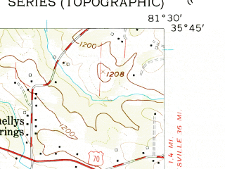 Reduced fragment of topographic map en--usgs--024k--046509--(1956)--N035-45-00_W081-37-30--N035-37-30_W081-30-00; towns and cities Valdese
