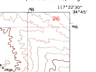 Reduced fragment of topographic map en--usgs--024k--046892--(1956)--N034-45-00_W117-30-00--N034-37-30_W117-22-30