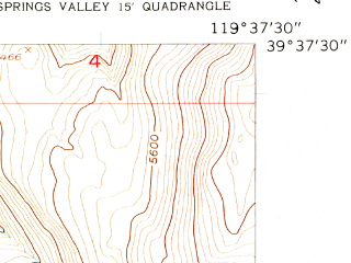 Reduced fragment of topographic map en--usgs--024k--047006--(1957)--N039-37-30_W119-45-00--N039-30-00_W119-37-30; towns and cities Sparks