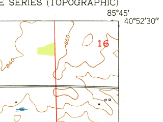 Reduced fragment of topographic map en--usgs--024k--047065--(1952)--N040-52-30_W085-52-30--N040-45-00_W085-45-00; towns and cities Wabash