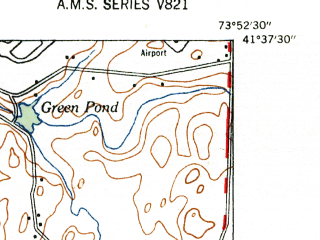 Reduced fragment of topographic map en--usgs--024k--047431--(1947)--N041-37-30_W074-00-00--N041-30-00_W073-52-30; towns and cities Beacon, Fishkill, Marlboro, Wappingers Falls