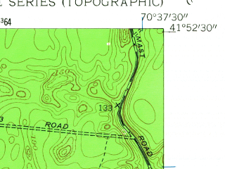Reduced fragment of topographic map en--usgs--024k--047462--(1957)--N041-52-30_W070-45-00--N041-45-00_W070-37-30; towns and cities Wareham Center, White Island Shores